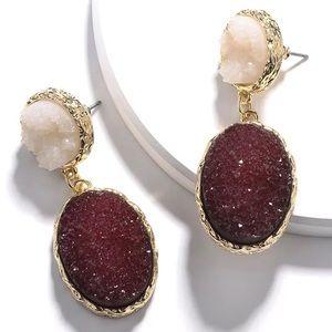 🌹🆕Druzy Quartz Drop Earrings!!!💋